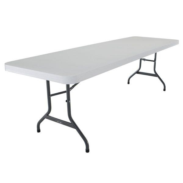 6 Foot White Plastic Folding Table Rental Red Deer
