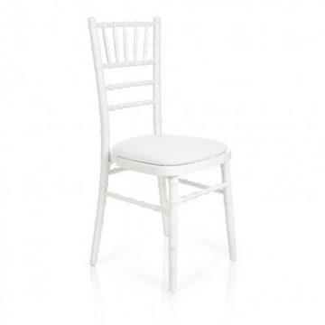 white chiavari wedding chair rental red deer