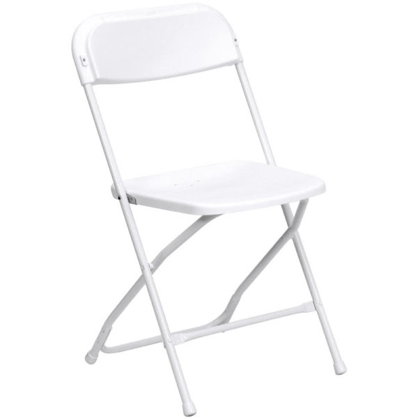 economy white folding chair wedding rental