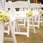 White Resin Chair Wedding