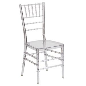 clear chiavari wedding chair rental red deer