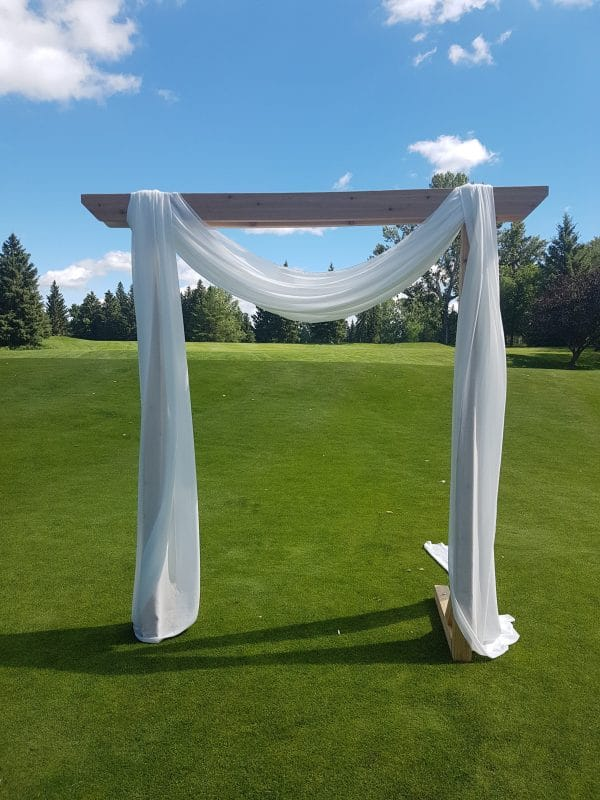 Red Deer Golf & Country Club Wedding Arch on Green