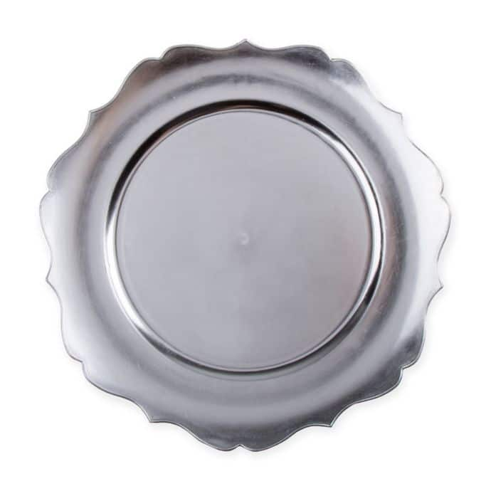 Scalloped Charger Plate – Silver