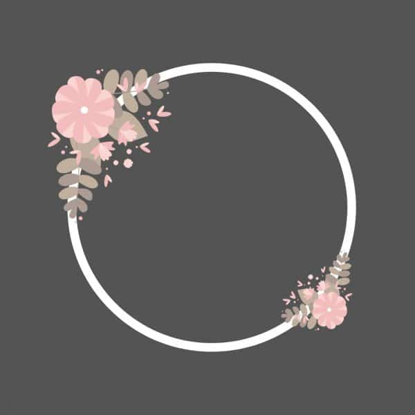 White wedding arch clipart with pink flowers