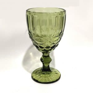 green vintage goblet rental red deer