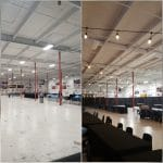 Before & After In Curling Rink